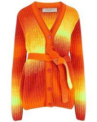 Golden Goose Deluxe Brand Deluxe Brand Degrade Anavera Cardigan In Orange Tiger Siz