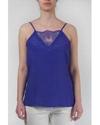 Sfizio Top With Lace - Purple