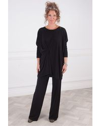 Crea Concept Crepe Jersey Top - Black
