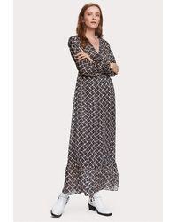 Maison Scotch Print Maxi Dress - Multicolor