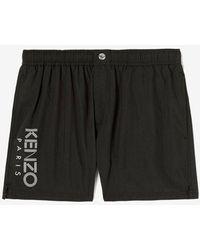 KENZO Sport Logo Nylon Swim Shorts Black
