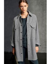 Luisa Cerano Blended Wool Overshirt - Grey