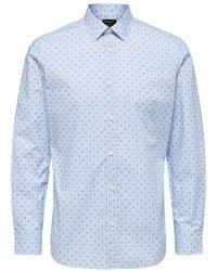 SELECTED Sixten Dobby Shirt - Blue