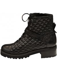 Lorenzo Masiero Women's W193553 Lace Up Biker Ankle Boot - Black