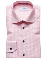 Eton 2068 00584 51 Lm Shirt Dress Square - Pink