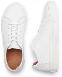 SELECTED - Donna White Leather Trainers - Lyst