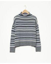Yerse Multi Stripe Knit Jumper - Blue