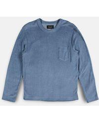 Howlin' By Morrison Long Sleeve T-shirt - Pine - Blue