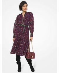 MICHAEL Michael Kors Zinnia Paisley Dress Michael Kors Mf0800uffs 652 - Pink