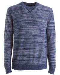 Roberto Collina Roberto Hill Blue Sweater Avio