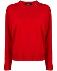 Versace - Women's A86874a235900a1203 Red Cashmere Sweater - Lyst