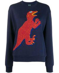PS by Paul Smith Women's W2r142vap128949 Blue Cotton Sweatshirt