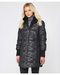 Creenstone - Camouflage Concealed Hood Coat - Lyst