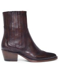 H by Hudson Sienna Brown Leather Boot