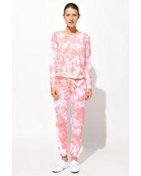 Sundry - Tie Dye Crop Pullover - Lyst