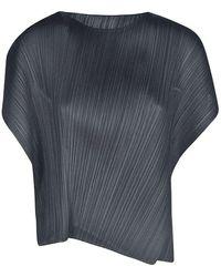Pleats Please Issey Miyake Pleats Please Issey Miyake Women's Pp08jk78115 Black Polyester Top