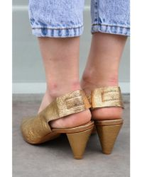 H by Hudson - Hudson Dorothea Gold Shoes - Lyst