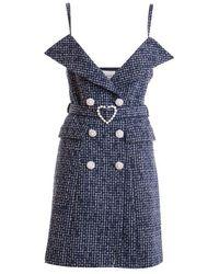 """Edward Achour Paris """"chanel"""" Dress - Blue"""