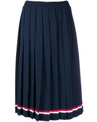 Thom Browne Women's Fkk053a03131415 Blue Viscose Skirt