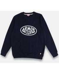 Armor Lux Armor-lux Heritage Sweatshirt - Rich Navy/heritage - Blue
