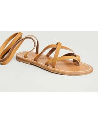 K. Jacques Zenobie Sandals Natural - Grey