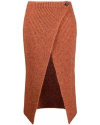 Alanui Lwhl009f21kni0012626 Wool Skirt - Red
