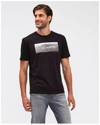 7 For All Mankind Graphic Hollywood Tee Colour: Black - White