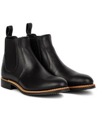 Red Wing 6-inch Chelsea Boot Black Boundary Leather