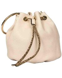 Borbonese Bourbonnais Small Bucket Bag - Natural