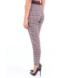 Mrz Trouser Red And White - Blue
