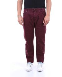 Jacob Cohen Trousers Five Pockets Men Burgundy - Purple