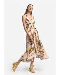 Ottod'Ame Handkerchief Printed Dress Ivory - Multicolour