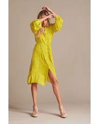POM Amsterdam Dress - Flower Kisses Lemon - Yellow