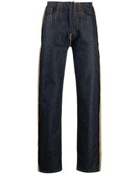 Maison Margiela Contrast-stitching Straight-leg Jeans - Blue
