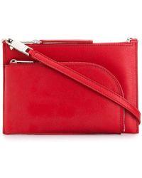Rick Owens Larry Club Pouch Shoulder Bag Bags > Shoulder Bags Woman - Red