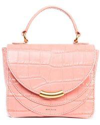 Wandler Women's Lunaminiarchcrocoblossom Brown Handbag
