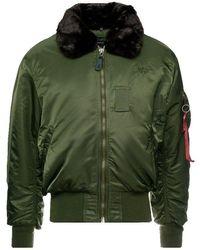 Alpha Industries - B15 Flight Jacket Dark Green - Lyst