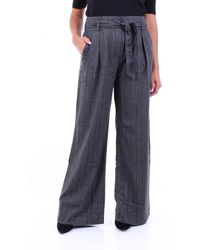 Purotatto Trousers Cropped Dark Grey