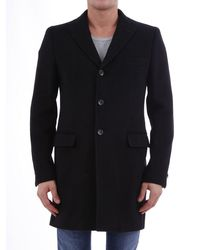Tonello Coat Black Wool