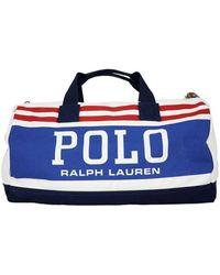 Polo Ralph Lauren Logo Print Duffle Bag - White