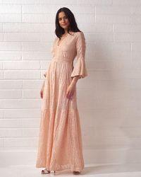 Cecilia Prado Light Pink Knitted Maxi Dress