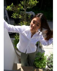 PHOEBE GRACE Nancy Shirt In Organic Poplin - White