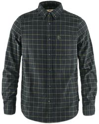 Fjallraven Fjallraven Ovik Flannel Shirt - Dark - Grey
