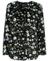 Michael Kors Women's Mu72hr1722305 Green Polyester Coat