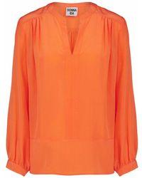 Donna Ida Feeling Fran Blouse - Sherbert - Orange