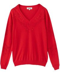Desigual Cotton Sweater - Red