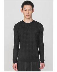 Antony Morato Self Pattern Knit Black Colour: Black,
