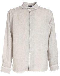 Paolo Fiorillo Capri Shirt In Melange - Grey