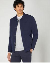 Remus Uomo Slim Fit Casual Jacket Navy | - Blue