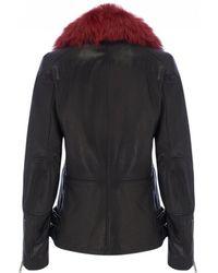 Belstaff - Gaskell Biker Jacket In Black & Red - Lyst